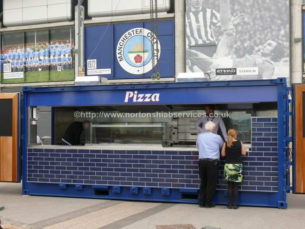 Snack Bar Kiosks Delivered & Installed at MCFC Eithad Stadium 18-08-2015