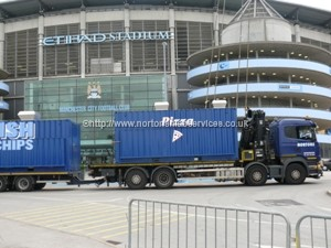 A local job installing Snack Bars at MCFC Eithad Stadium