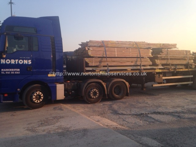 Scaffolding collected from Hartlepool and delivered to Warrington