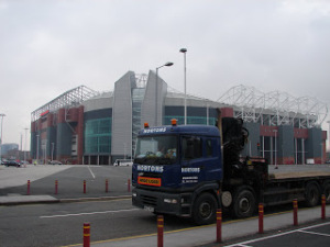 Nortons Hiab Services Supporting the Reds