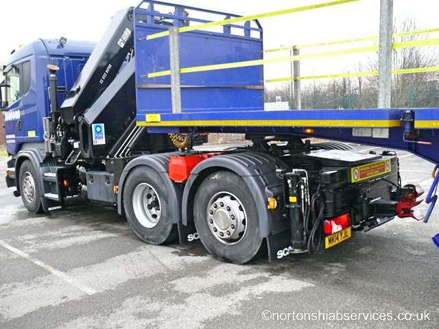 Articulated 622E-5 Hi Pro Hiab with Extendable Trailer up to 55ft